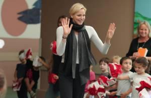 Charlene de Monaco : En classe, à la cantoche, les enfants se régalent avec elle