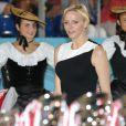 La princesse Charlene de Monaco aux Masters de Pétanque de Monaco le 6 septembre 2013