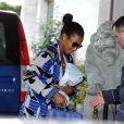 Savannah, récente mariée à LeBron James arrive à Rome pour sa lune de miel, le 17 septembre 2013