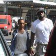 Lebron James et sa jeune épouse Savannah lors de leur arrivée à Rome pour leur lune de miel, le 17 septembre 2013