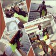 LeBron James et son épouse Savannah sur la côte d'Azur en août 2013, au Grand-Hôtel de Saint-Jean Cap-Ferrat
