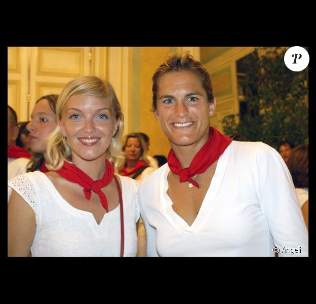 Maya Lauqué et Amélie Mauresmo