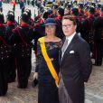 Le prince Constantijn et la princesse Laurentien aux célébrations du  Prinsjesdag , le 17 septembre 2013 à La Haye. Le roi Willem-Alexander des Pays-Bas, entouré de son épouse la reine Maxima, de son frère le prince Constantijn et de sa belle-soeur la princesse Laurentien, accomplissait pour la première fois au Binnenhof, sur le Trône de la Salle des Chevaliers, le rituel marquant l'ouverture de l'année politique, avant de rallier le palais Noordeinde pour saluer la foule de ses sujets.