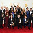 Les producteurs de The Voice récompensés lors des 65e Primetime Emmy Awards à Los Angeles, le 22 septembre 2013.