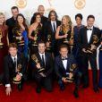 L'équipe de The Voice lors des 65e Primetime Emmy Awards à Los Angeles, le 22 septembre 2013.
