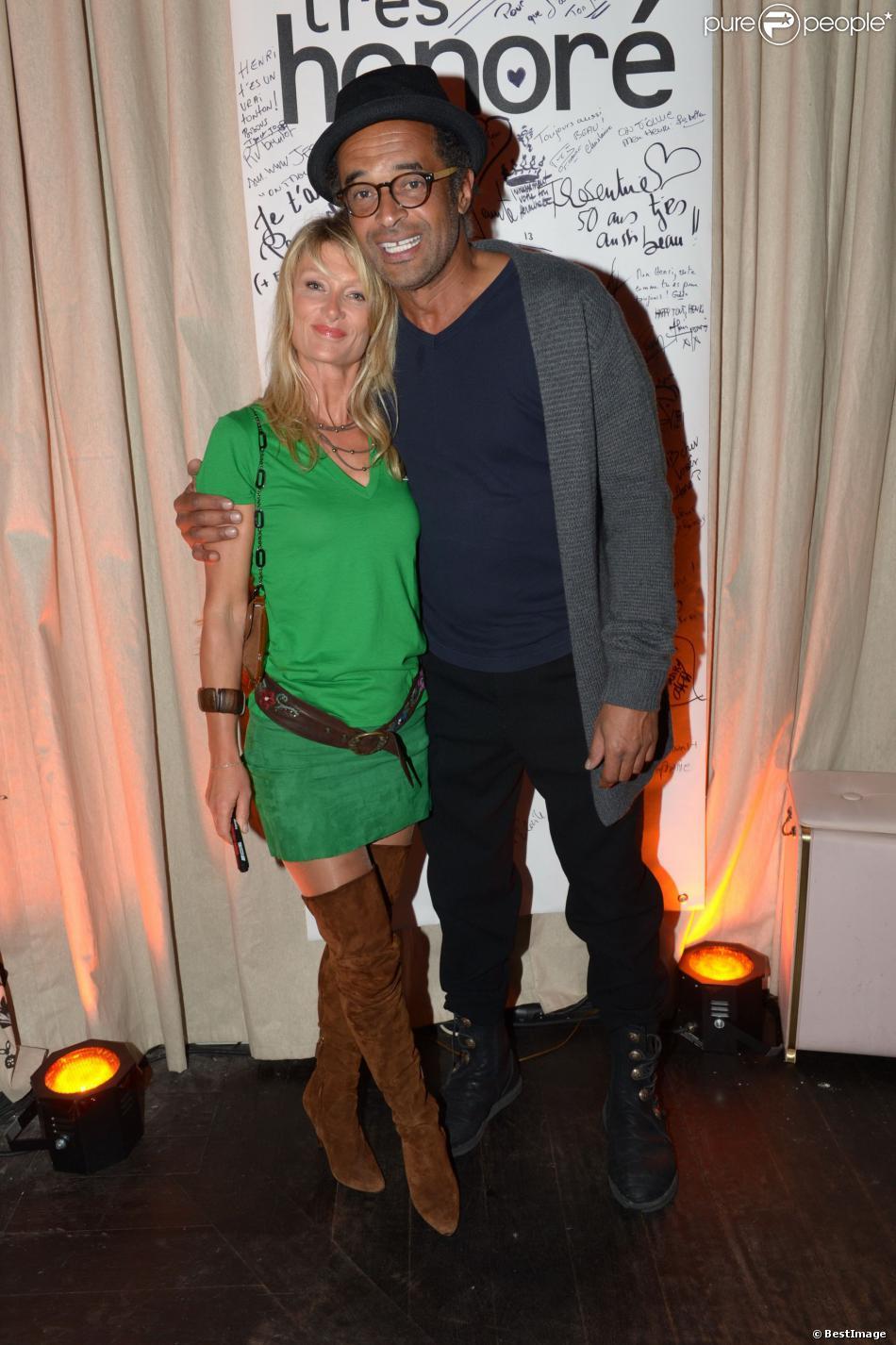 Yannick Noah et sa femme Isabelle Camus à Paris le 30 mai 2013.