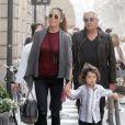 Flavio Briatore à Milan avec sa femme Elisabetta Gregoraci et leur fils Nathan Falco (3 ans) le 21 septembre 2013.