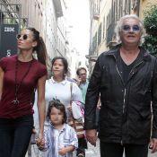 Flavio Briatore : Shopping en famille avec sa belle Elisabetta et leur fils