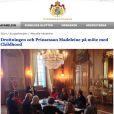 La princesse Madeleine de Suède le 25 septembre 2013 lors de la réunion de travail de la World Childhood Foundation au palais royal à Stockholm, présidée par la reine Silvia.