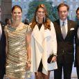 La princesse Madeleine de Suède, enceinte, et son mari Chris O'Neill avec la princesse Victoria et le prince Daniel ainsi que le prince Carl Philip au concert ponctuant la journée d'inauguration du Parlement suédois, le 17 septembre 2013 à Stockholm.