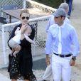 Marta Ortega, son mari Sergio Alvarez Moya et leur fils Amancio Jr. âgé de 6 mois au Jumping de Barcelone le 26 septembre 2013.