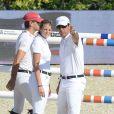 Athina Onassis épaulait une fois encore son mari Alvaro de Miranda Neto au jumping de Barcelone, comme ici le 26 septembre 2013.