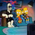 Bande-annonce du 24e Treehouse of Horror dans la série Les Simpson.