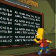 La traditionnelle punition de Bart dans un extrait du 24e Treehouse of Horror dans la série Les Simpson.