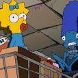 Maggie et Marge dans un extrait du 24e Treehouse of Horror dans la série Les Simpson.