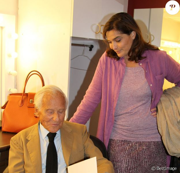 Exclu - Jean d'Ormesson et sa fille Héloïse à Paris, le 9 septembre 2011.
