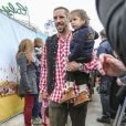FranckRibéry avec son fils Seïf el Islamà l'Oktoberfest à Munich le 6 octobre 2013.