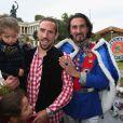 FranckRibéry avec son filsSeïf el Islamà l'Oktoberfest à Munich le 6 octobre 2013.