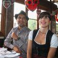 Pep Guardiola et sa femme Cristina à l'Oktoberfest à Munich le 6 octobre 2013.