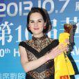 Michelle Dockery lors de la cérémonie des Huading Awards à Macao., le 7 octobre 2013.