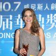 Laura Weissbecker meilleure nouvelle actrice lors de la cérémonie des Huading Awards à Macao., le 7 octobre 2013.