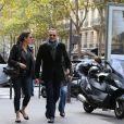 Tom Hanks avec sa femme Rita Wilson visitant et faisant du shopping à Paris le 12 octobre 2013
