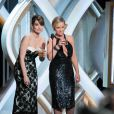 Tina Fey et Amy Poehler lors des Golden Globes Awards à Los Angeles, le 13janvier 2013.