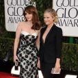Tina Fey et Amy Poehler sur le tapis rouges des Golden Globes Awards à Los Angeles, le 13janvier 2013.