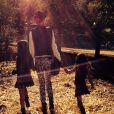 Laeticia et ses filles dans un champ de citrouilles près de Temescal Canyon à Los Angeles, le 15 octobre 2013.