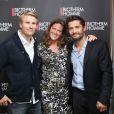 Blandine Franc, directrice marketing de Biotherm Homme, avec Bixente Lizarazu et le navigateur François Gabart, nouveaux ambassadeurs de la marque à Paris le 15 octobre 2013 - Exclusif