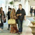 La jolie Jessica Simpson et son fiancé Eric Johnson à Capri, en Italie, le 16 octobre 2013.