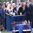 Exclusif - Jessica Simpson, superbe demoiselle d'honneur au mariage de son agent Lauren Auslander, à Rhode Island le 11 octobre 2013
