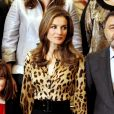 La princesse Letizia d'Espagne lors d'une audience le 21 octobre 2013 au Palais de la Zarzuela, à Madrid.