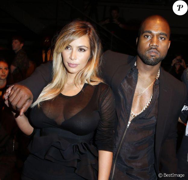 Kanye West et Kim Kardashian au défilé Givenchy le 29 septembre 2013