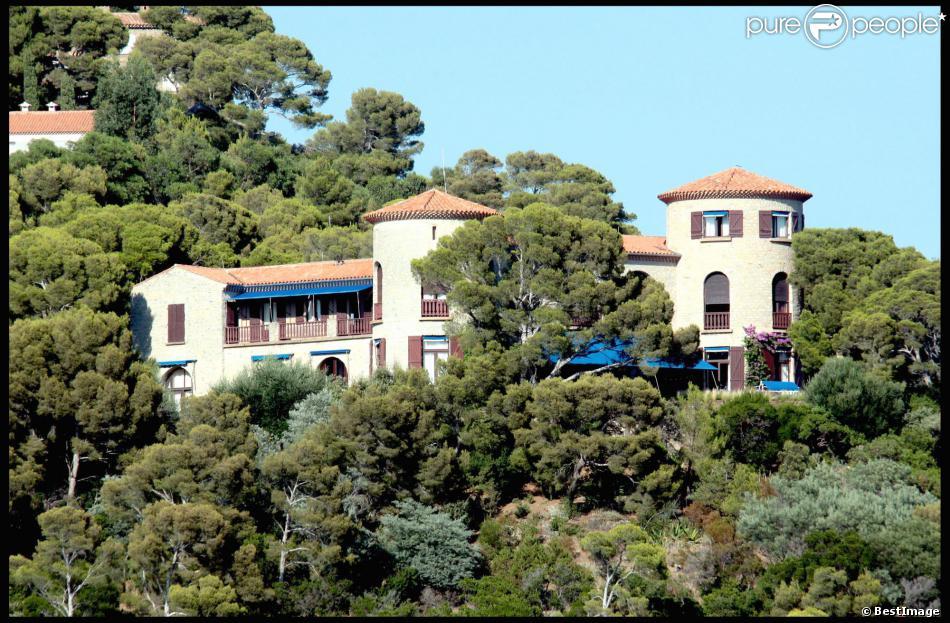 Le domaine du Cap Nègre dans le Var, propriété des Bruni-Tedeschi, été 2010.