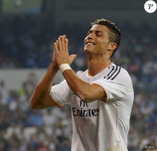 Cristiano Ronaldo lors du match face au Betis Séville à Santiago Bernabeu à Madrid, le 18 août 2013