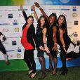 Isabelle Severino, Laura Flessel et Camille Pin lors du 10e gala de l'association Un Maillot pour la Vie à l'hôtel de Ville de Paris le 22 octobre 2013