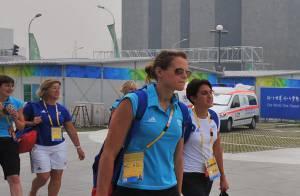 PHOTOS : Laure Manaudou, son chéri et Alain Bernard viennent d'arriver à Pékin !