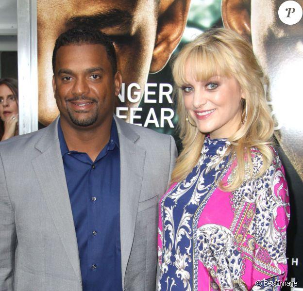Alfonso Ribeiro et son épouse Angela lors de la première du film After Earth au théâtre Ziegfeld à New York, le 29 mai 2013