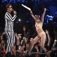 Robin Thicke et Miley Cyrus lors des MTV Video Music Awards à Brooklyn, le 26 août 2013.