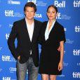 """Marion Cotillard et Guillaume Canet lors de la conférence de presse du film """"Bood Ties"""" dans le cadre du Festival International du Film de Toronto, le 10 septembre 2013"""