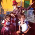 À Los Angeles, les Hallyday vivent à l'heure d'Halloween, le 28 octobre 2013.