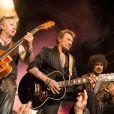"""Exclusif - Johnny Hallyday en concert au Théâtre de Paris pour son 70e anniversaire dans le cadre du """"Born Rocker Tour"""", le 15 juin 2013."""