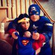 Snooki avec son mari  Jionni LaValle et son fils Lorenzo pour  Halloween 2013