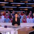 """La belle Farida Khelfa sur le plateau du Grand Journal de Canal +, le 4 novembre 2013. Elle est venue parler de son documentaire intitulé """"Campagne Intime"""" qui dévoile la vie privée de Carle et Nicolas Sarkozy."""