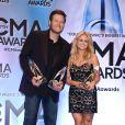 Blake Shelton et son épouse Miranda Lambert, grands gagants des 47e CMA Awards à Nashville, le 6 novembre 2013.