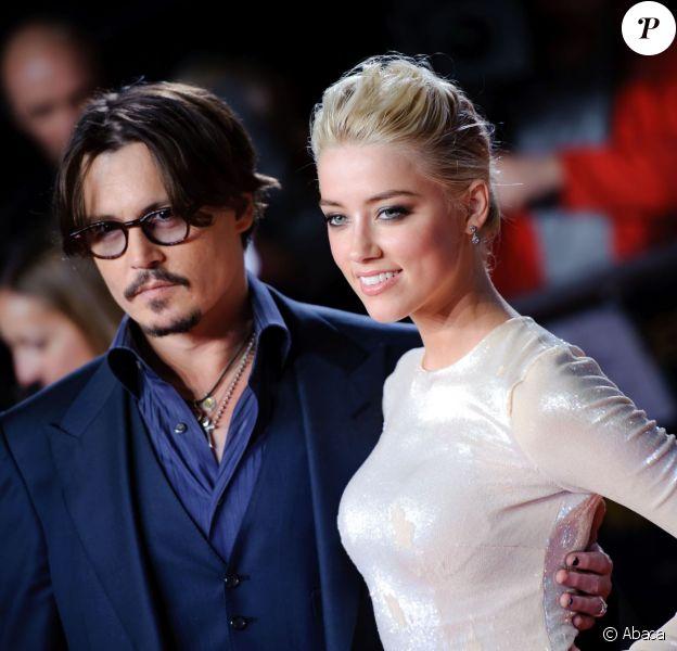 Johnny Depp et Amber Heard à Londres le 3 novembre 2011.