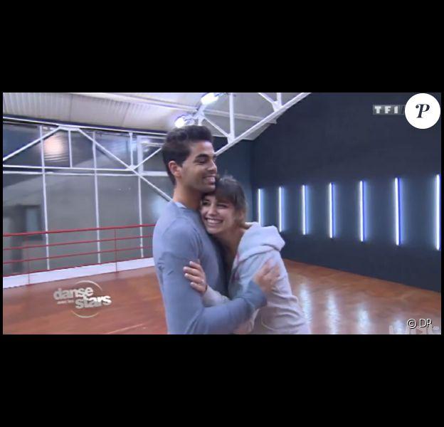 """Le duo Laetitia Milot et Christophe Licata lors des répétitions pour """"Danse avec les stars 4""""."""