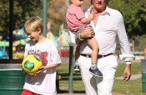 Rod Stewart : Père et grand-père modèle au côté de sa fille Kimberley