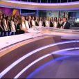Les 33 Miss régionales débarquent sur le plateau du JT de 13h de Jean-Pierre Pernaut le 14 novembre 2013